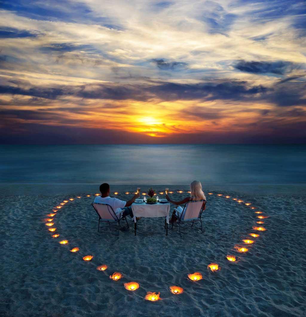 Sunset dinner on Phuket Beach Club Unique