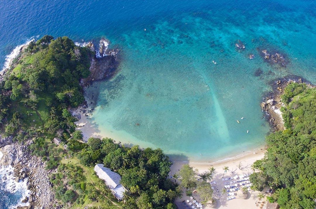 Club Unique Phuket Thailand Air View On Paradise Beach