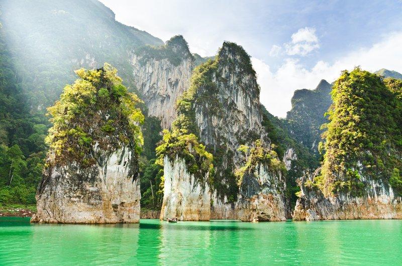Khao Sak Lake and Rocks